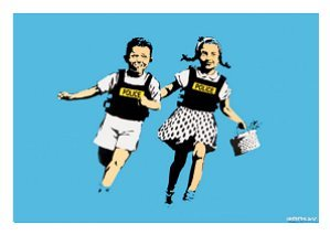 Jack and Jill Police Kids Banksy