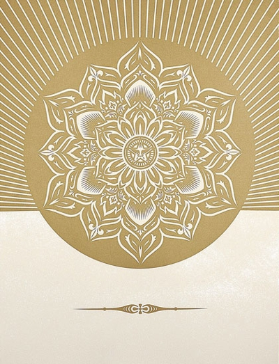 Shepard Fairey Obey Lotus Diamond - White and Gold