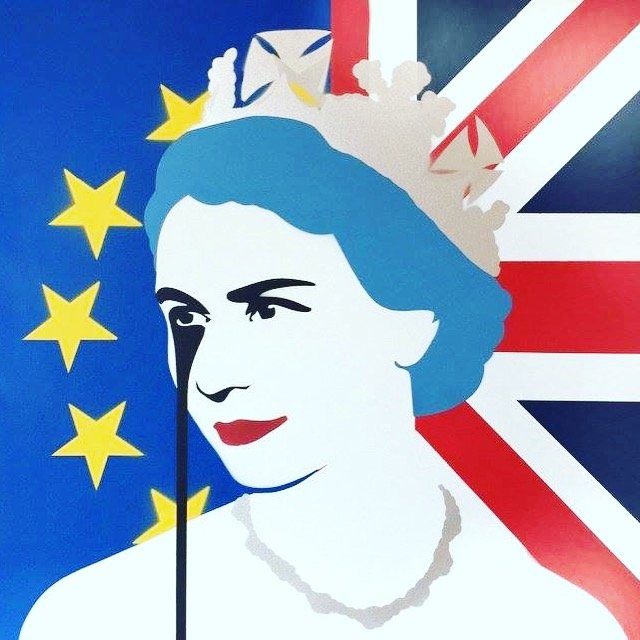 Pure Evil QE2EU Brexit Nightmare (Painting)